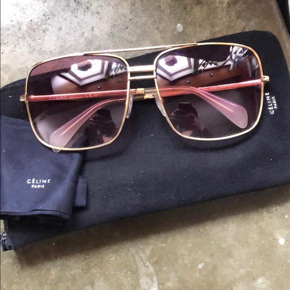 a8661114ad3 Celine Accessories - Celine Pink Aviator Sunglasses 41808